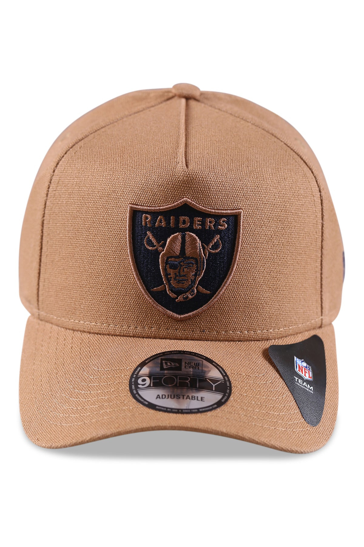 New Era 940 A Frame Raiders Bronze Snapback Front