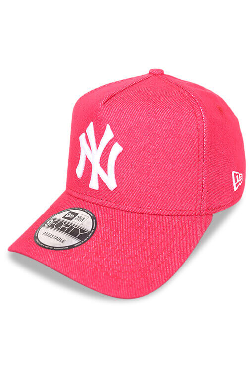 New Era 940 A Frame NY Denim Red Snapback Angle