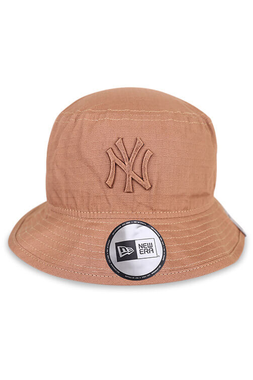 New Era NY Wheat Ripstop Bucket Front