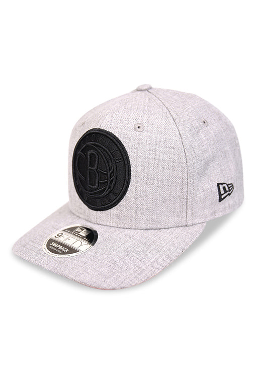 New Era 950 PC Brooklyn Nets Heather Grey Snapback Angle
