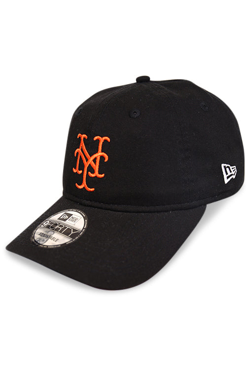 New Era 940 NY Mets Black Strapback Angle