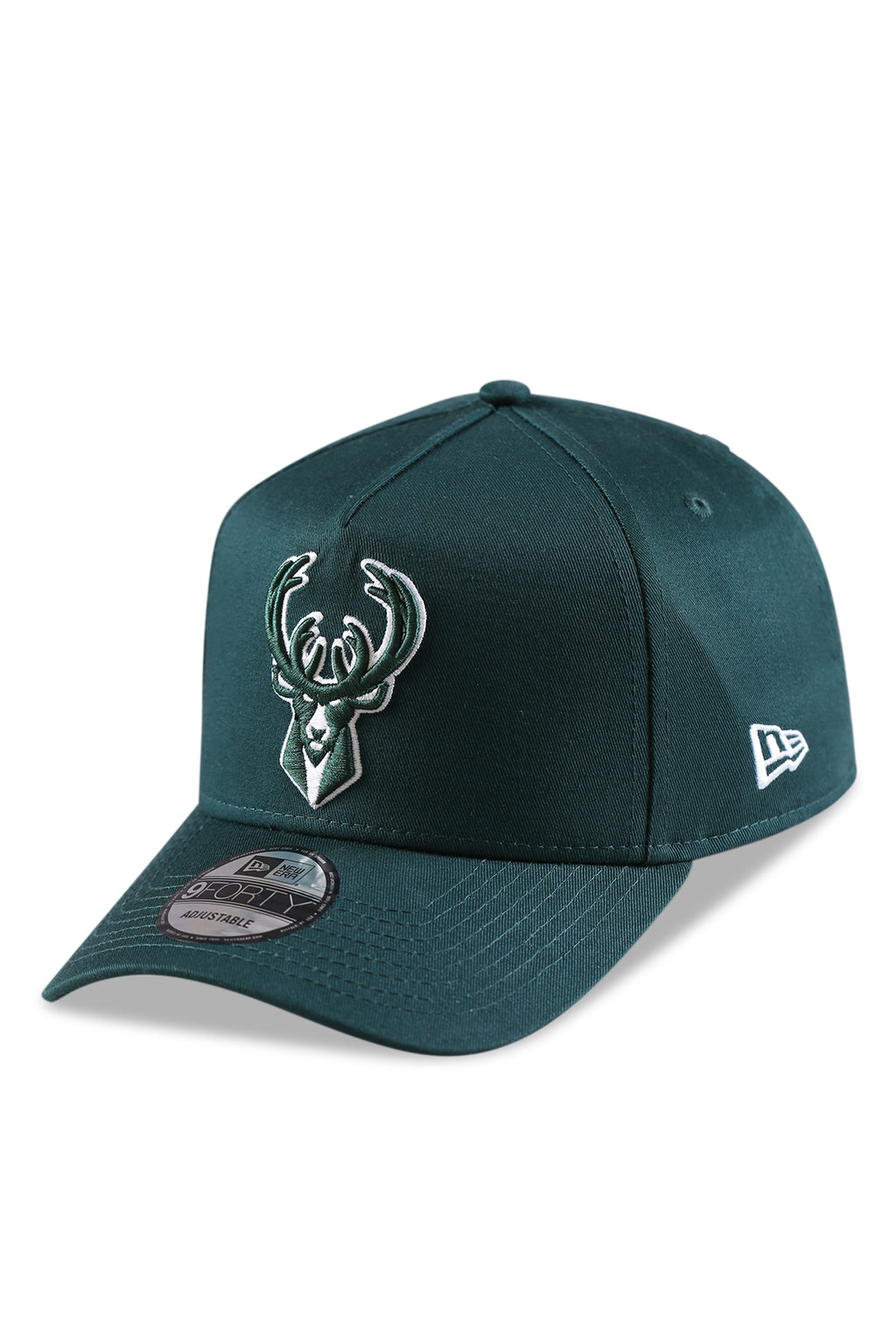 New Era 940 AF Milwaukee Bucks Dark Green Snapback Angle