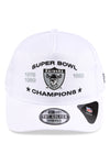 New Era Raiders Golfer Optic White Snapback Front