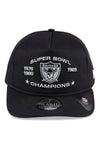 New Era Raiders Golfer Black Snapback Front