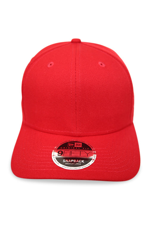 New Era 950 Pre Curved Core Scarlet Snapback Front
