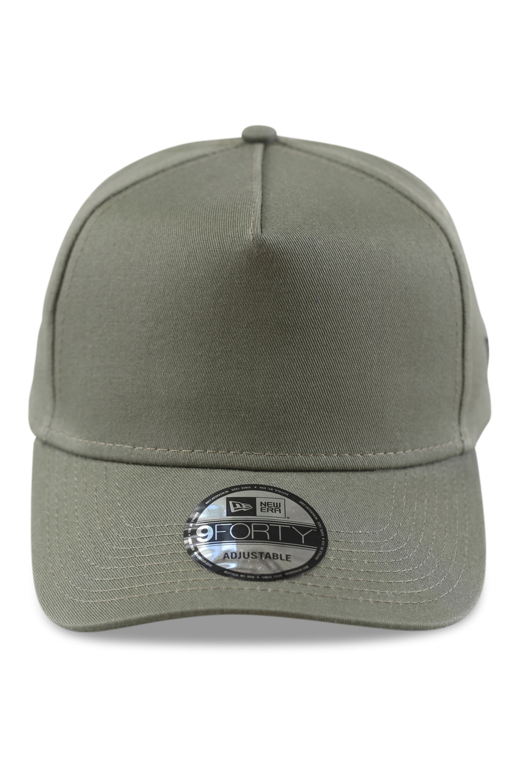 New Era 940 A Frame Essentials New Olive Snapback Front