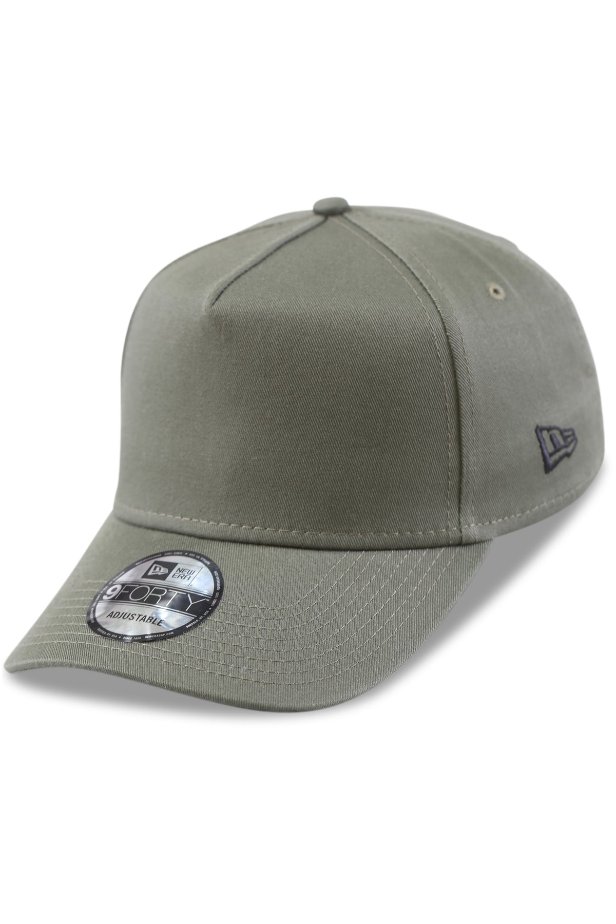 New Era 940 A Frame Essentials New Olive Snapback Angle