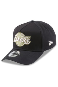 New Era 940 A Frame Lakers Black/Olive Satin Snapback Angle