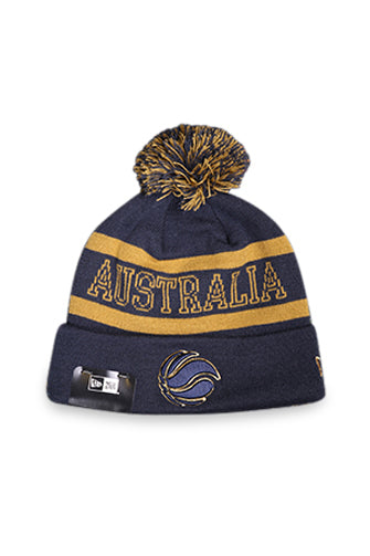 New Era Knit Australian Basketball Navy/Gold Front