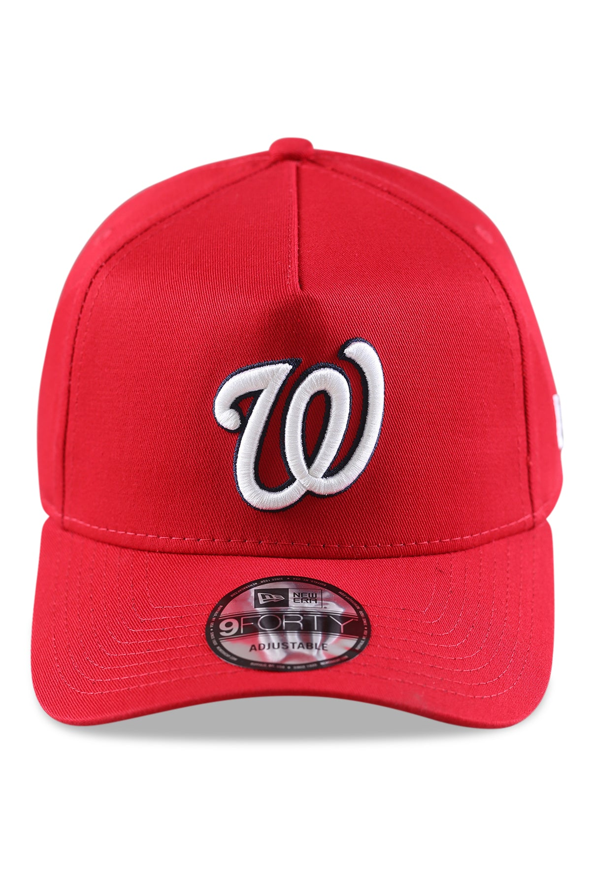 New Era 940 A Frame Washington Nationals Red Snapback Front