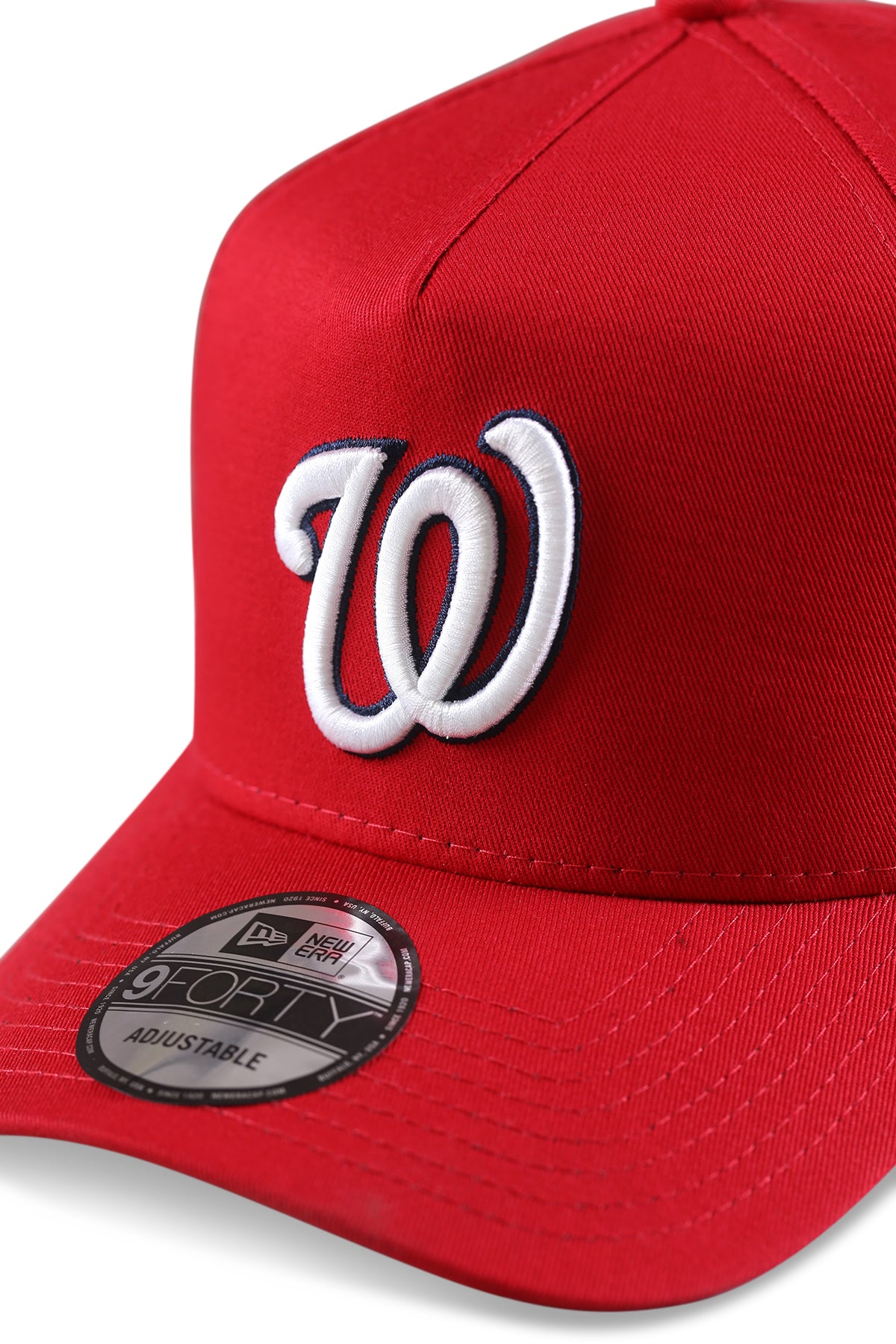 New Era 940 A Frame Washington Nationals Red Snapback Detail