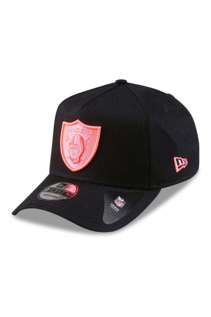 New Era 940 A Frame Raiders Black/Pink Neon Snapback