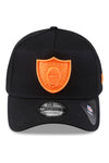 New Era 940 A Frame Raiders Black/Orange Neon Snapback