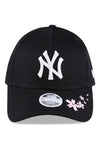 New Era Womens 940 NY Black/Cherry Blossom Strapback
