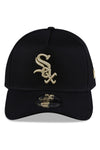 New Era 940 A Frame White Sox Black & Gold Snapback