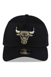 New Era 940 A Frame Bulls Black & Gold Snapback