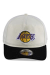 New Era Lakers Old Golfer Classic 2Tone White Snapback