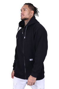 Pro Club Zip Up Hoody Black Front