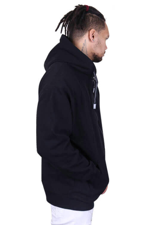 Pro Club Zip Up Hoody Black Angle