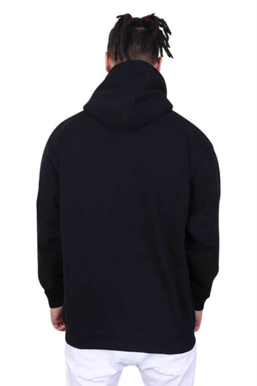 Pro Club Zip Up Hoody Black Back
