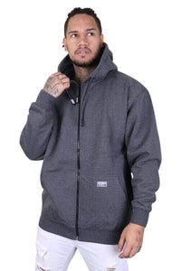 Pro Club Zip Up Hoody Charcoal Front