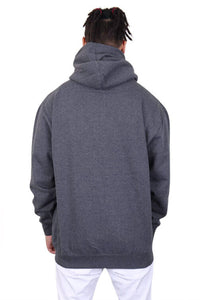 Pro Club Zip Up Hoody Charcoal Back