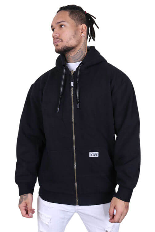 Pro Club Reversible Zip Up Hoody Black/Camo Front 1