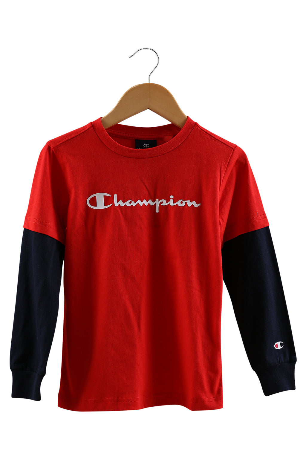Champion EU Boys Script 2fer Red/Navy