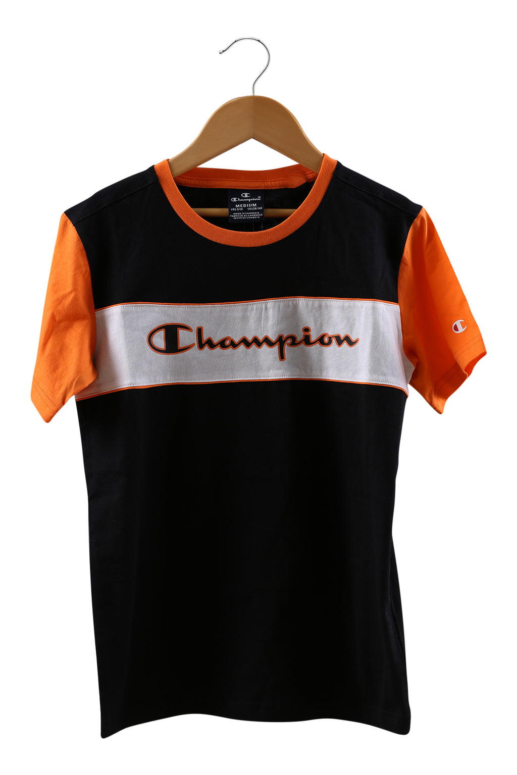 Champion EU Boys Colourblock Tee Black/White
