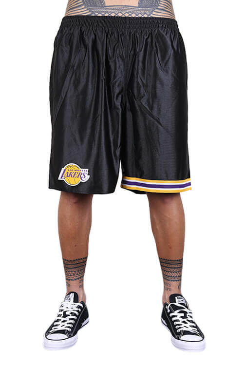 M&N Lakers Dazzle Shorts Black Front