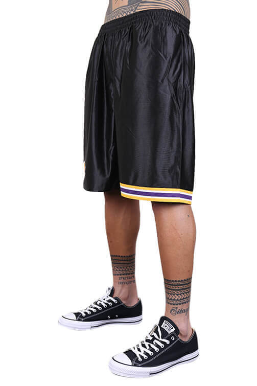 M&N Lakers Dazzle Shorts Black Angle