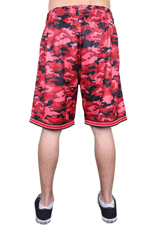M&N Bulls Camo Mesh Short Red Back