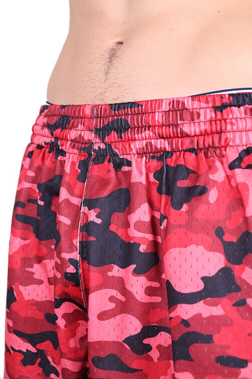 M&N Bulls Camo Mesh Short Red Detail 1