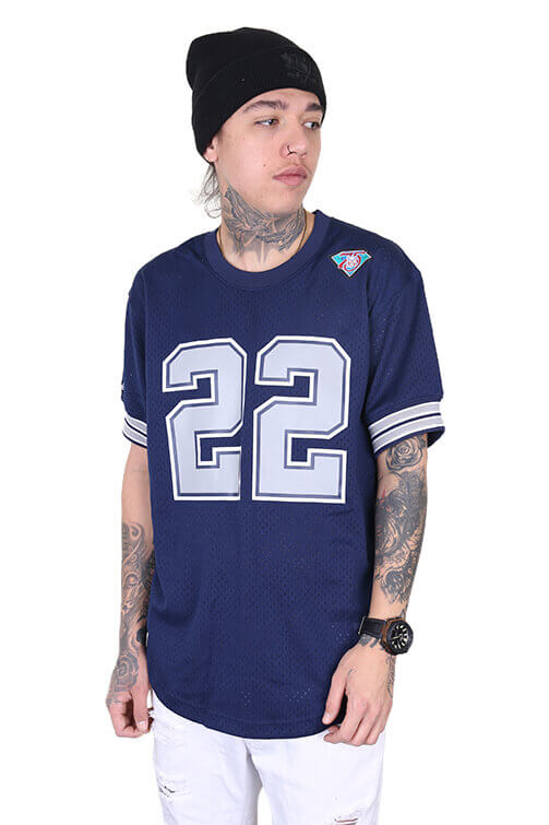 M&N Cowboys Smith 22 Mesh Crew Navy Front