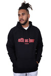 AFKNCHUR Hollow Hoody Black Red