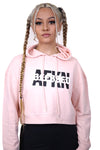 AFKNCHUR Womens Blessed Cropped Hoody Salmon