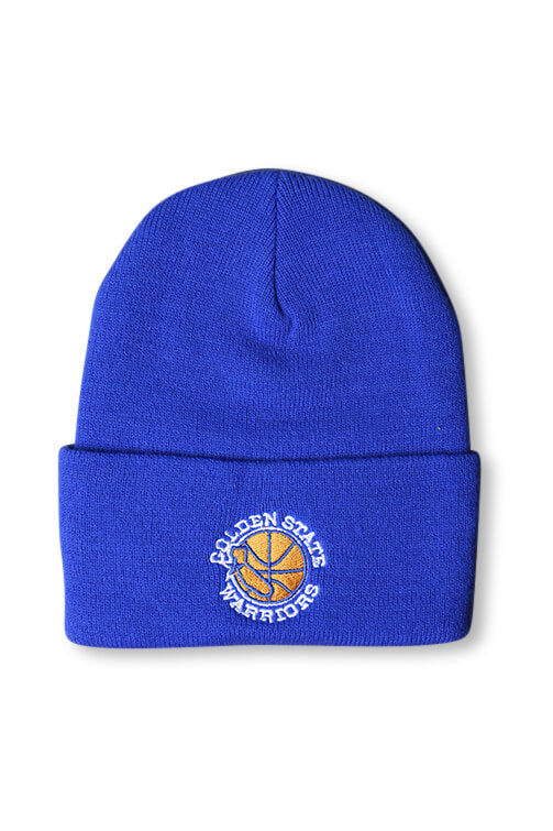 M&N Warriors HWC Logo Knit Royal Front
