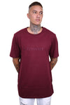 Lower Lowcase Emb QRS Tee Burgundy