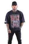 M&N Rodman Vintage Hall of Fame OS Tee Black
