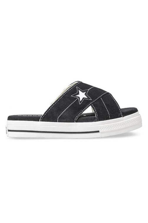 Converse Women One Star Sandal Black Side