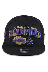 New Era 950 Los Angeles Co Champs Black Snapback Front
