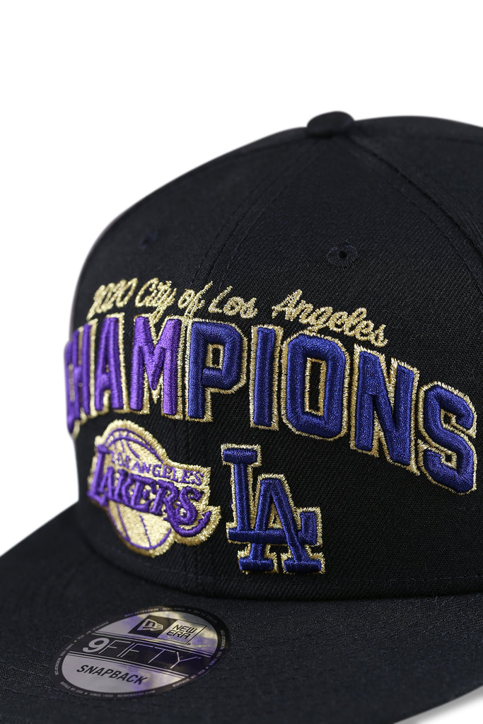 New Era 950 Los Angeles Co Champs Black Snapback Detail