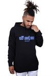 AFKNCHUR Hollow Hoody Black Blue