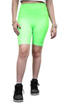 Ilabb Womens Festival Bike Shorts Neon Green Front
