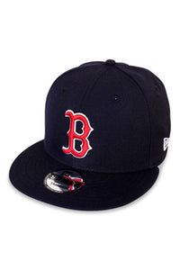 New Era Boston Red Sox Navy Snapback Angle