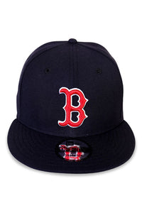 New Era Boston Red Sox Navy Snapback Front