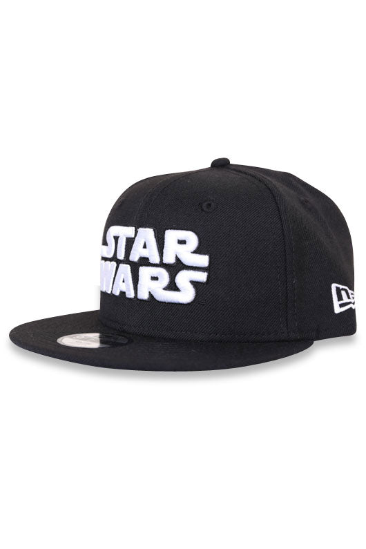 New Era Star Wars Black White Snapback Youth Angle