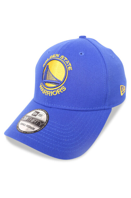 New Era 3930 GS Warriors Light Royal Gold Angle