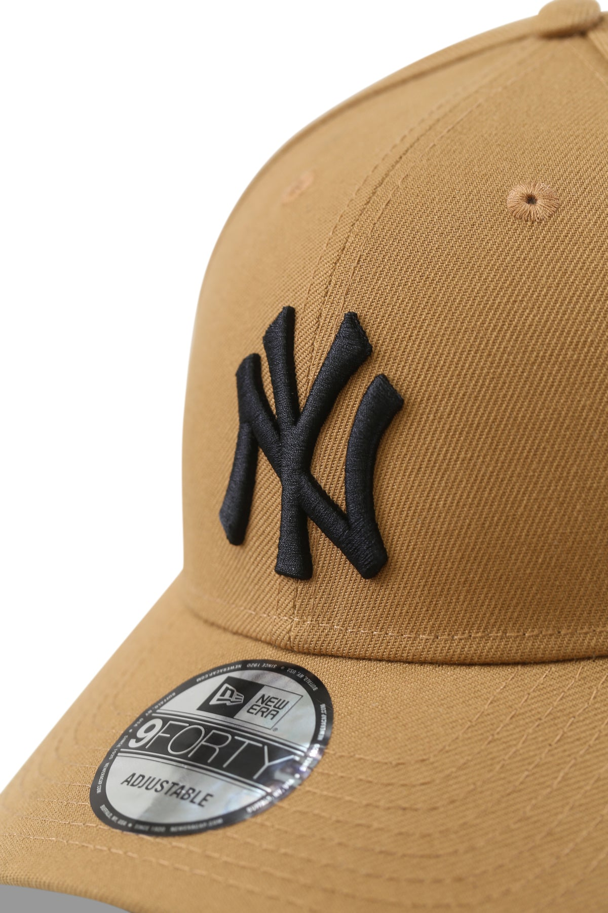 New Era 940 NY Wheat/Black Snapback Detail
