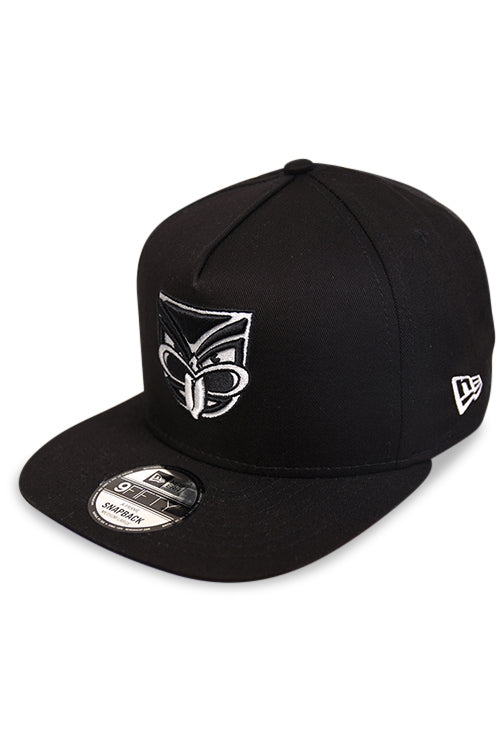 New Era 950 A Frame NZ Warriors Black Snapback Angle